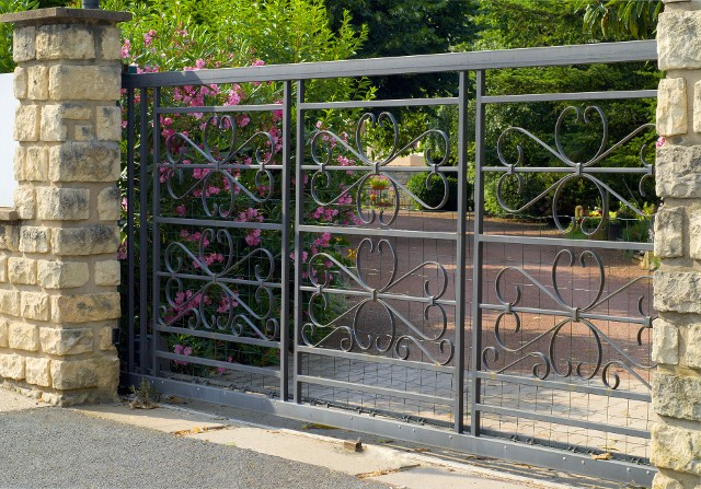 Metal durable gate installed for a customer